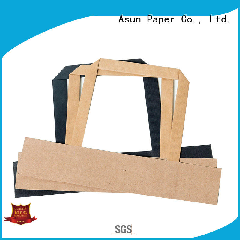 Asun paper rope woven paper handle series for shop