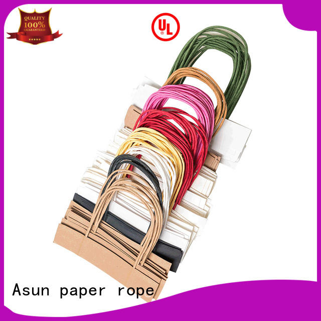 Asun paper rope integrated twisted handle bags for flat