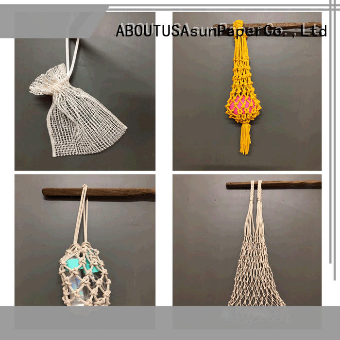 Asun paper rope net raffia yarn bag with good price for indoor