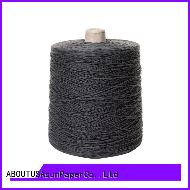 Asun paper rope black newspaper yarn with good price for casement cloth