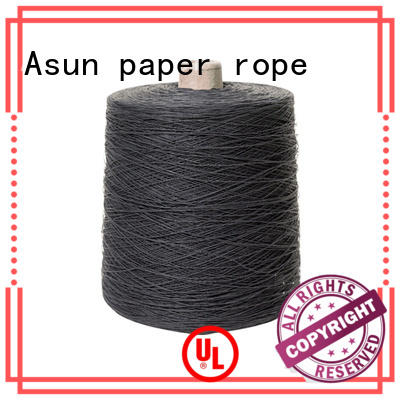 Asun paper rope black newspaper yarn design for shirts