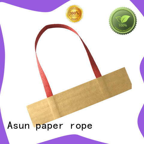 Asun paper rope gift bag handles customized for indoor