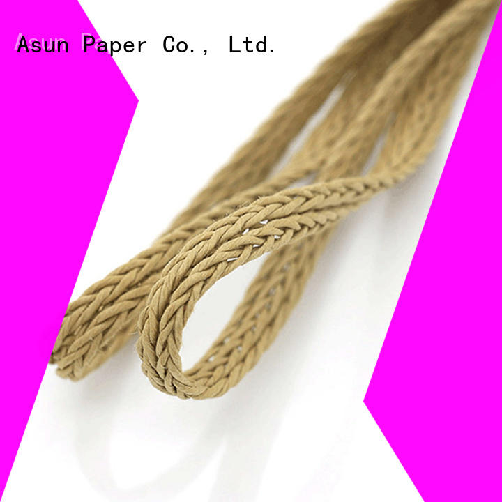 Asun paper rope wooden braided twine personalized for paper handle