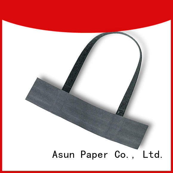 Asun paper rope woven flat paper handle series for indoor