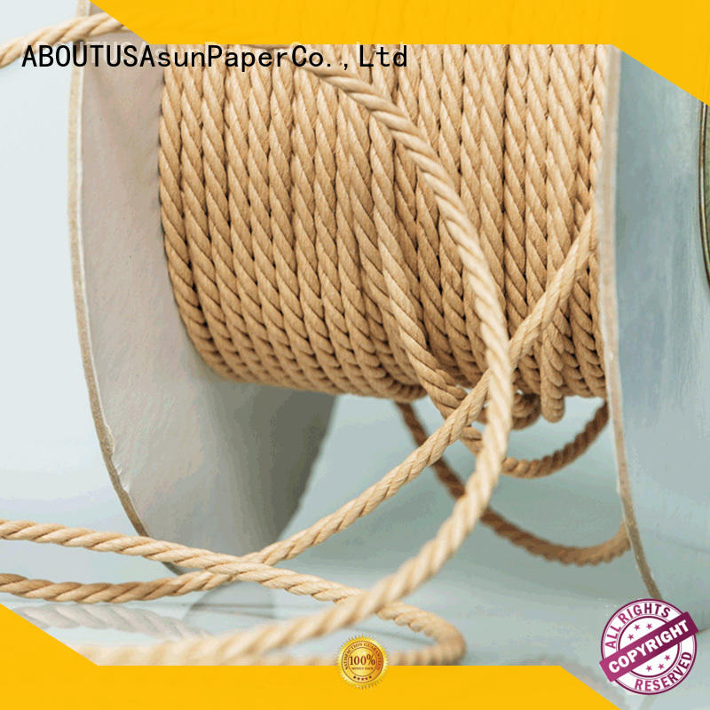 Asun paper rope multifunctional paper cord wholesale for shoes