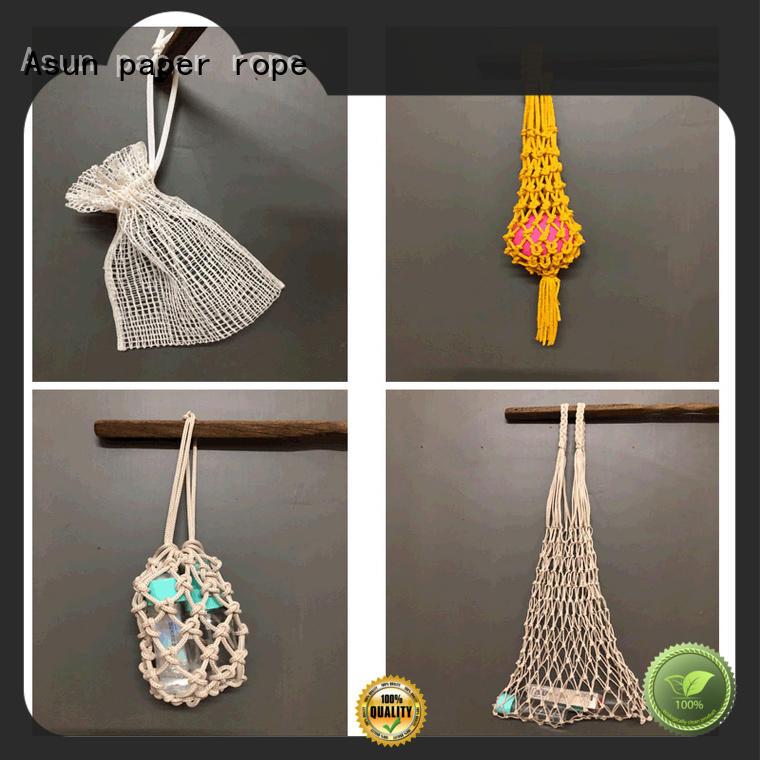 net paper string bag design for car