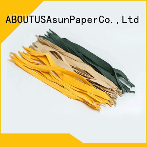 Asun paper rope bag handles customized for indoor