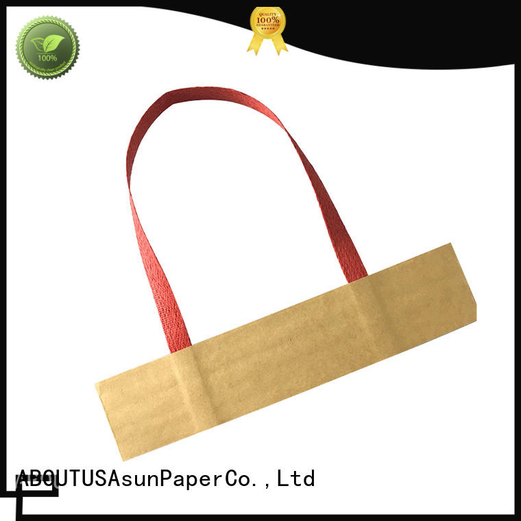Asun paper rope grocery bag handle series for indoor