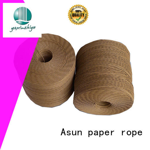 wired paper cord handles strand paper rope bags Asun paper rope Brand