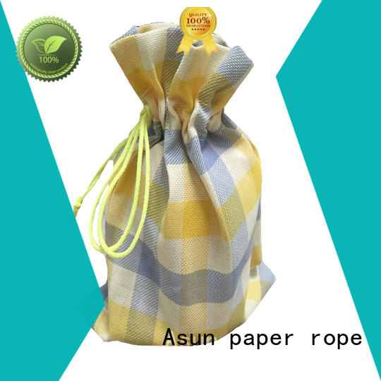 Asun paper rope black paper bag clothing directly sale for casement cloth