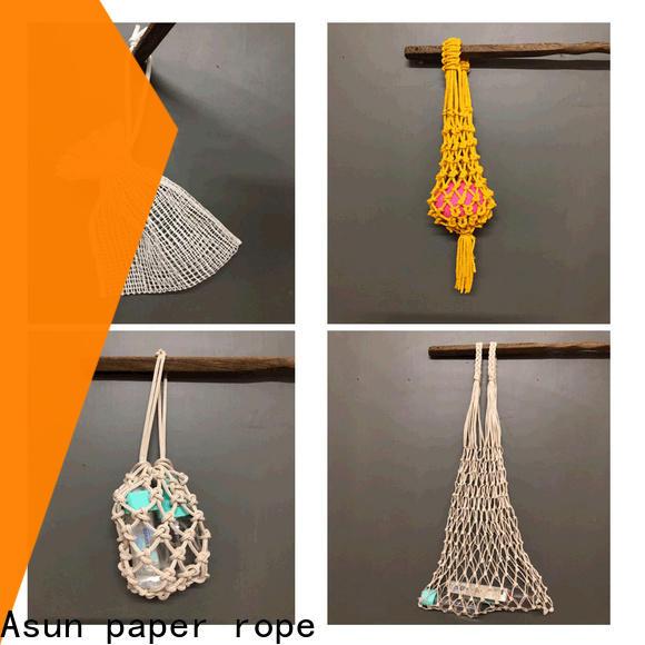 Asun paper rope raffia yarn bag design for house