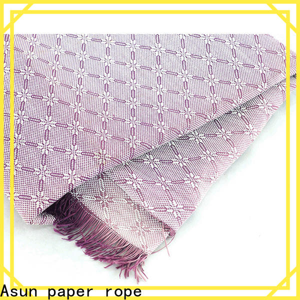 Asun paper rope fabric paper with good price for garment accessories home for furnishing printing &packaging for craftwork