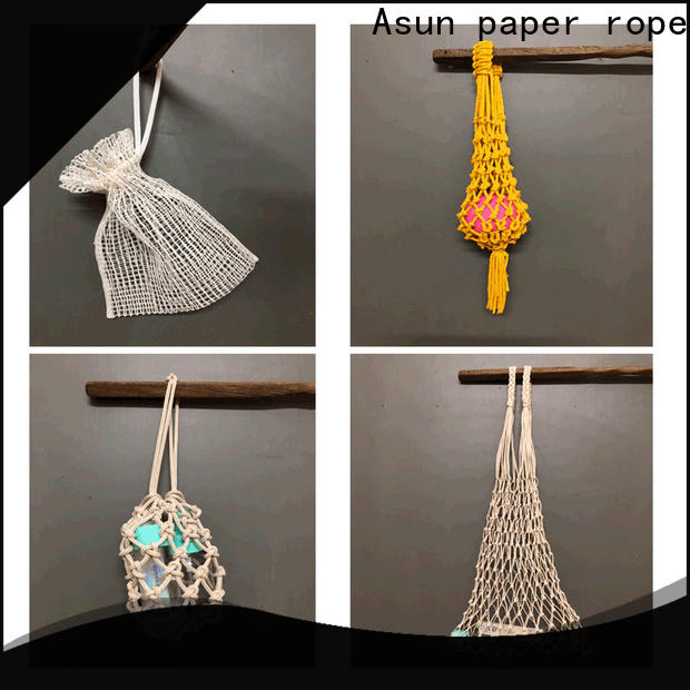 Asun paper rope durable raffia yarn bag with good price for house