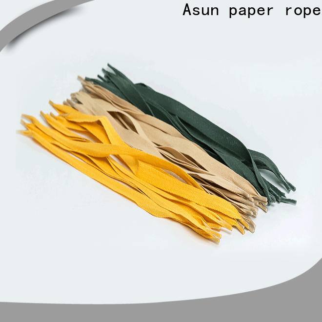 Asun paper rope woven gift bag handles from China for flat