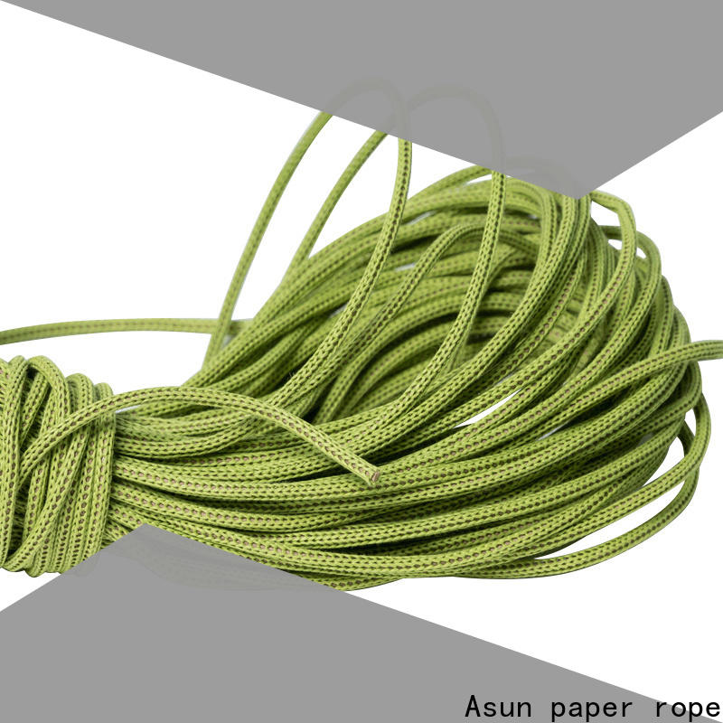 Asun paper rope woven wired paper ribbon series for led lamp
