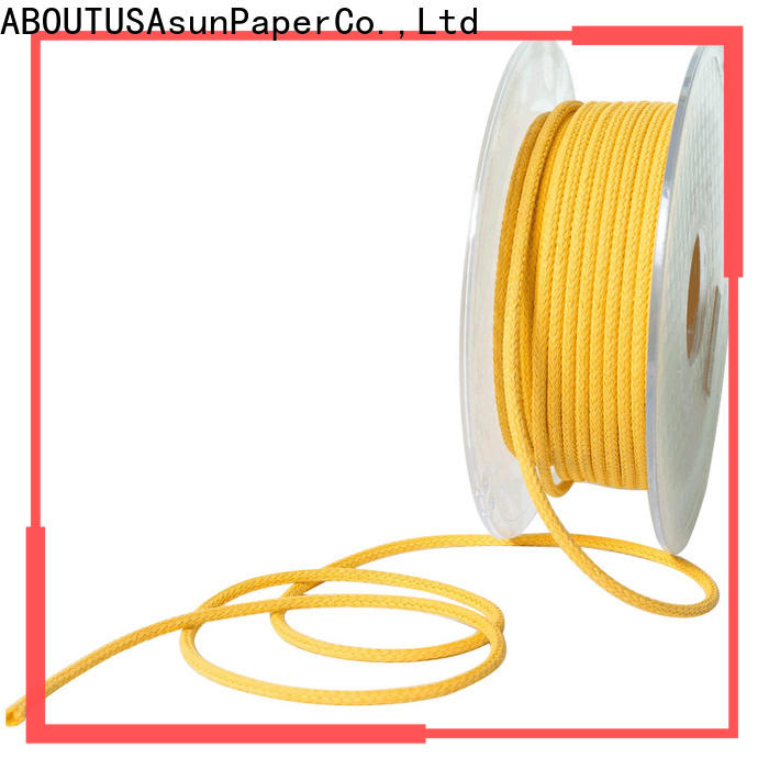 Asun paper rope wooden braided twine supplier for garment accessories