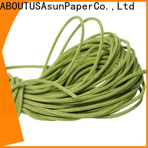 Asun paper rope knitted paper rope ribbon directly sale for indoor