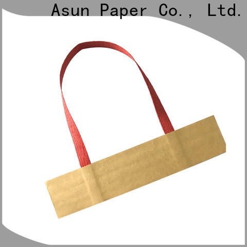 Asun paper rope flat paper handle customized for flat