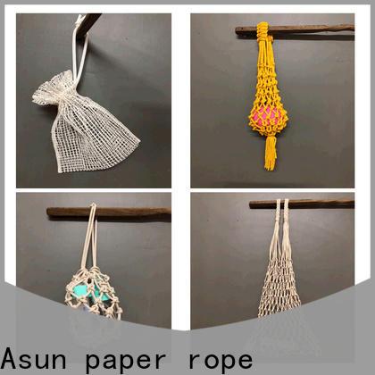 Asun paper rope durable paper string bag factory for car