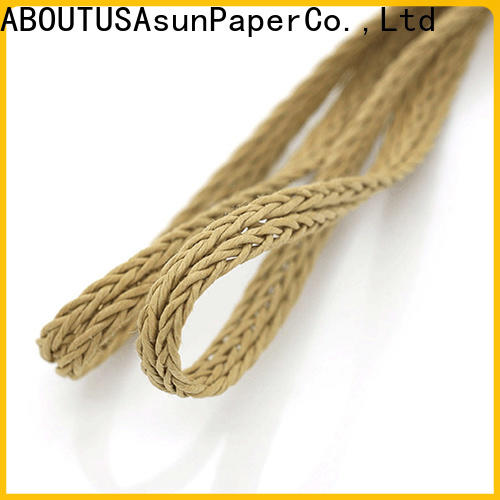 Asun paper rope wooden braided twine supplier for pendant light