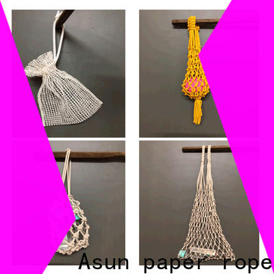 Asun paper rope net raffia yarn bag factory for house