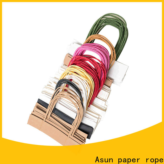 Asun paper rope stable bag handles wholesale directly sale for indoor