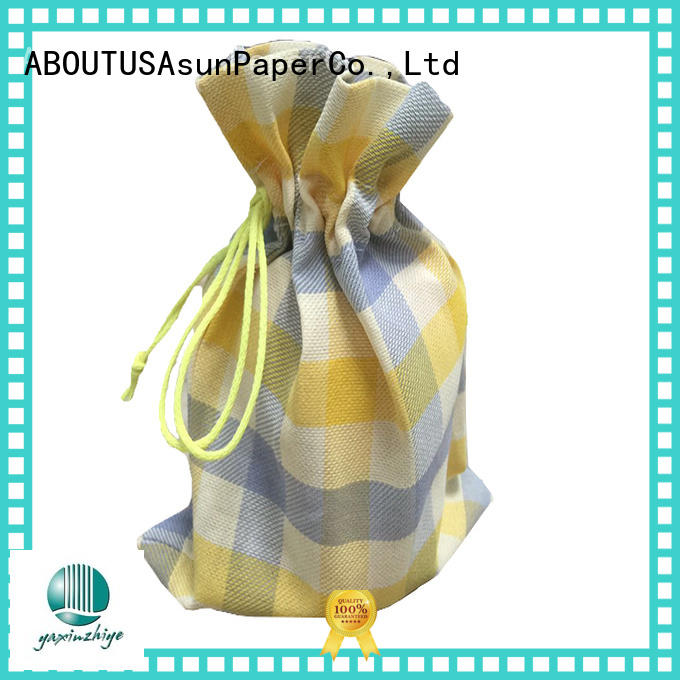 Asun paper rope clothing paper bags customized for socks