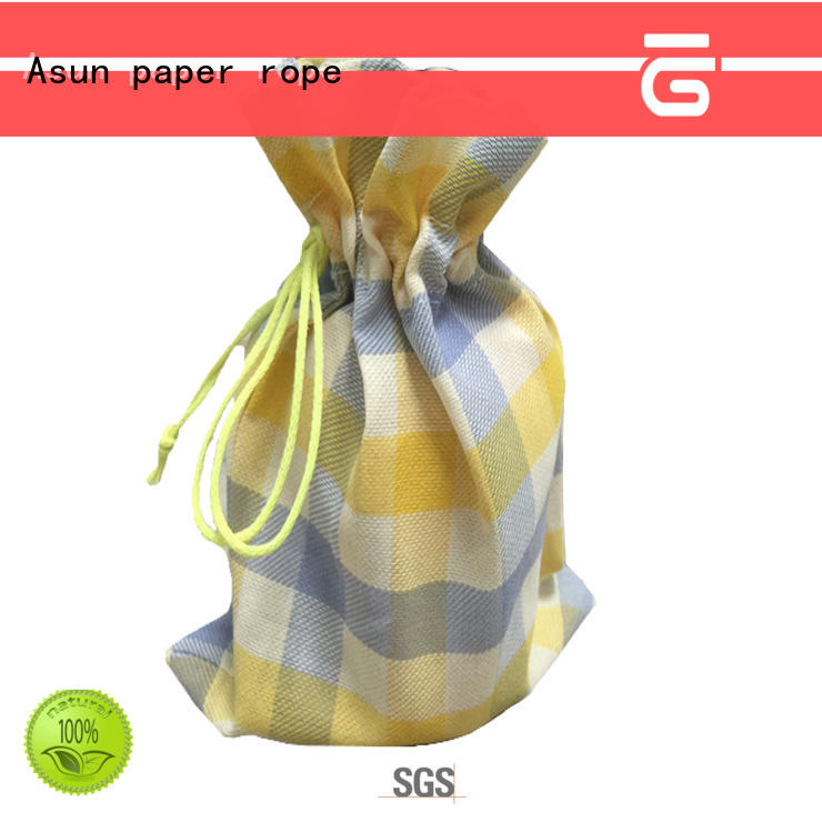 Asun paper rope black paper bag clothing for shirts