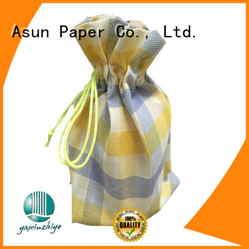 Asun paper rope black paper cloth bag manufacturer for shirts