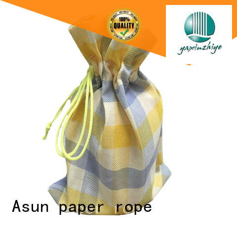 customized environmental paper bag clothing comfortable Asun paper rope Brand company