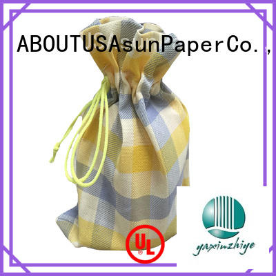 Asun paper rope black paper bags for clothes for socks